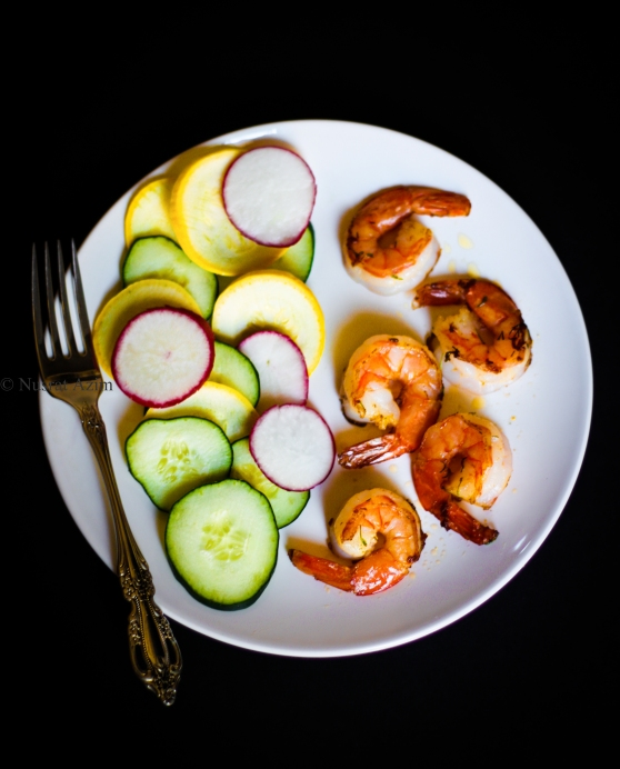 Sauted Shrimp with fresh veggies