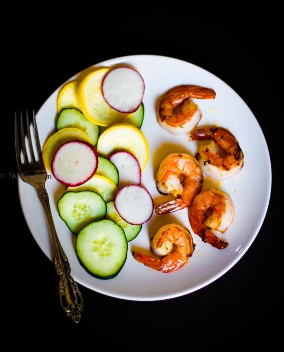 Sauted Shrimp with fresh veggies